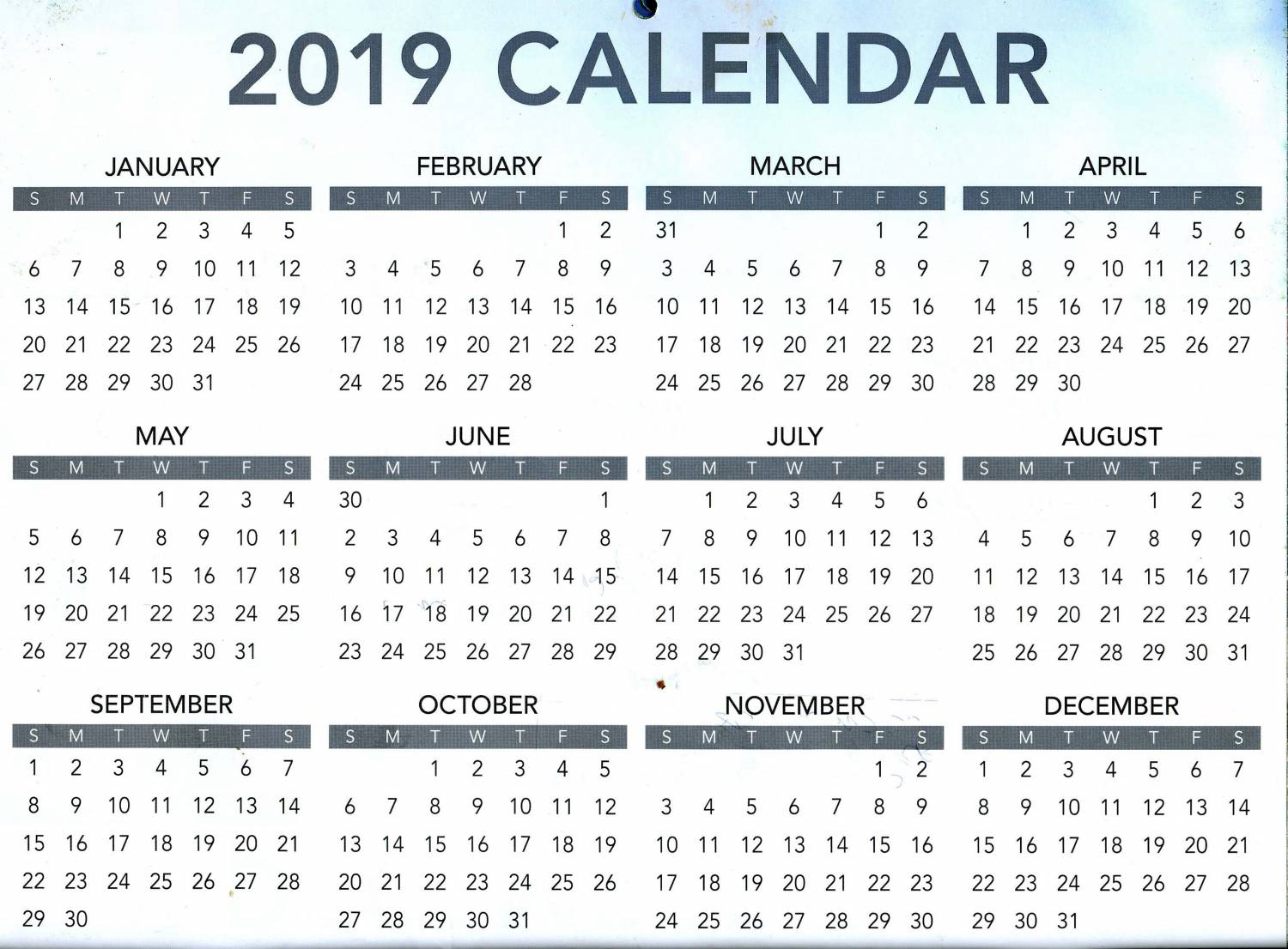 2019 OACT Calendar Has Something For Everybody